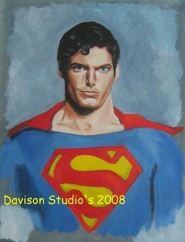 Chris Reeve,painting por Paul Davison