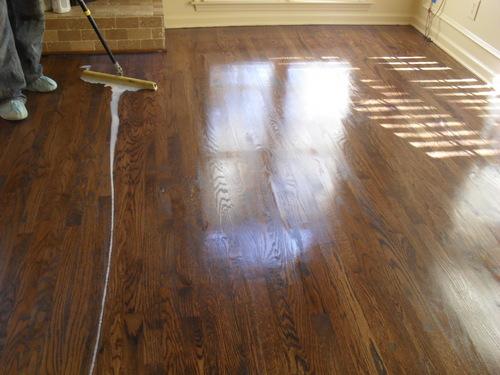 Coating wood floors