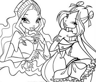 The Winx Club images Coloring Pages wallpaper and background photos