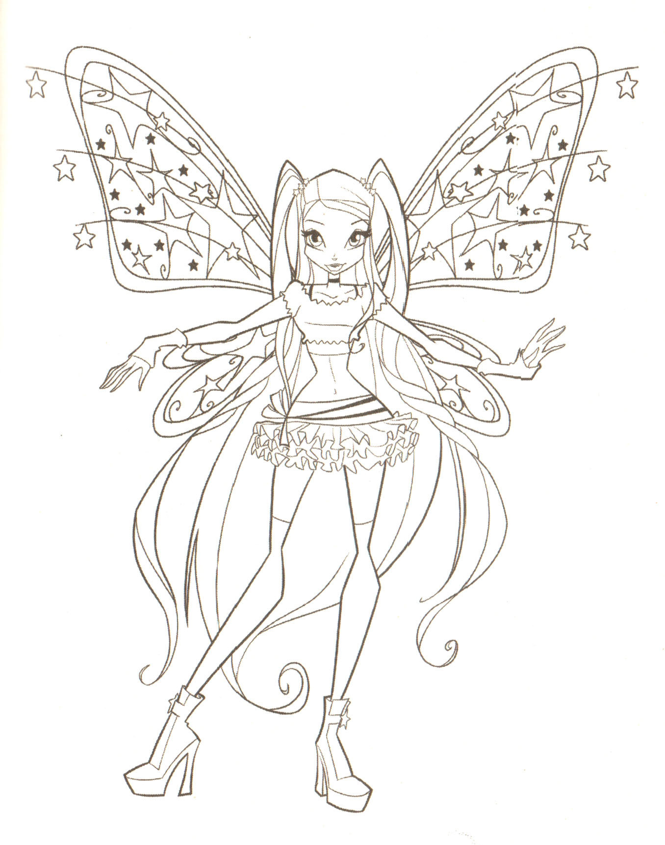 Musa - transformation sirenix coloring pages - Hellokids.com | 1723x1356