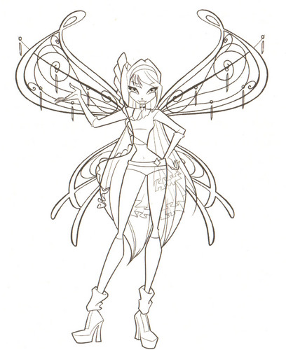 Winx Club hình nền titled Coloring Pages