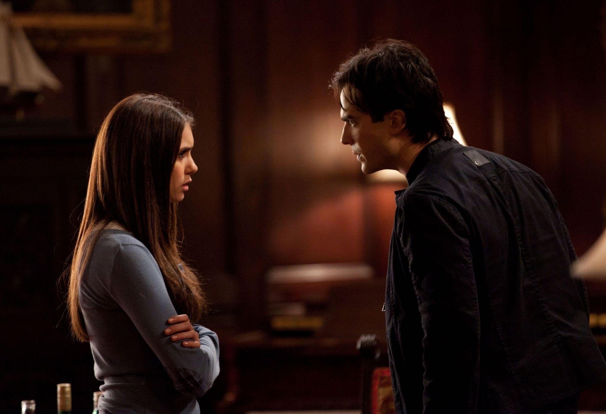 DAMON & ELENA 2x12 The Descent