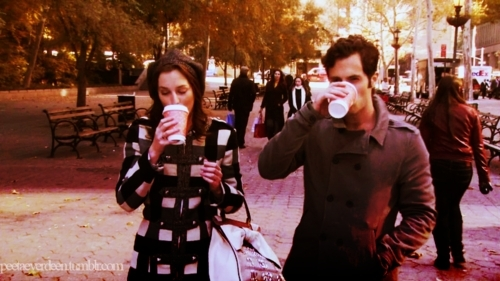 Dan and Blair wallpaper probably containing a street called Dair <3