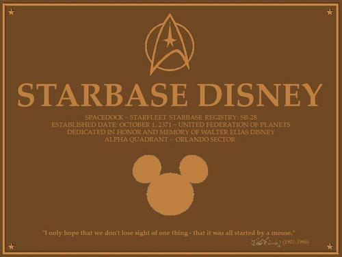 Disney wolpeyper entitled Disney - bituin Trek <3 (Starbase Disney)