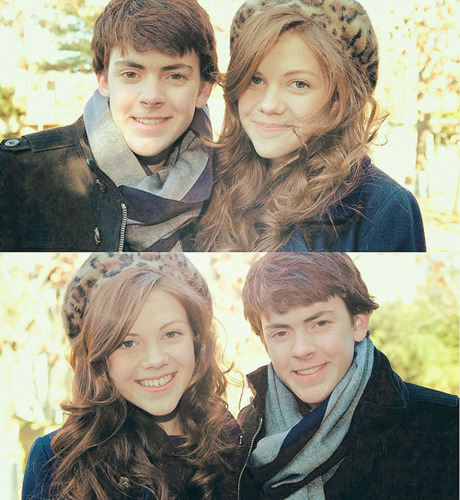 Skandar Keynes and Georgie Henley
