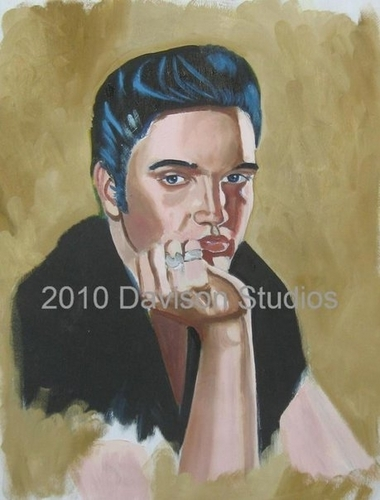 Elvis,painting by Paul Davison