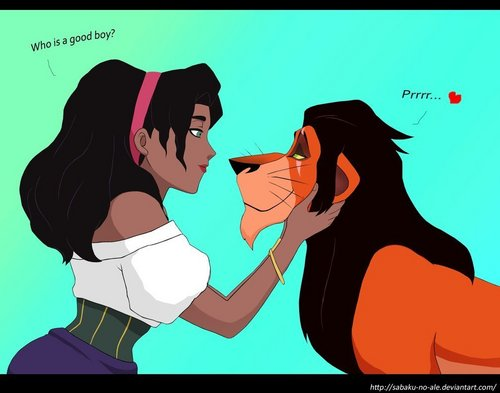 Esmeralda and Scar