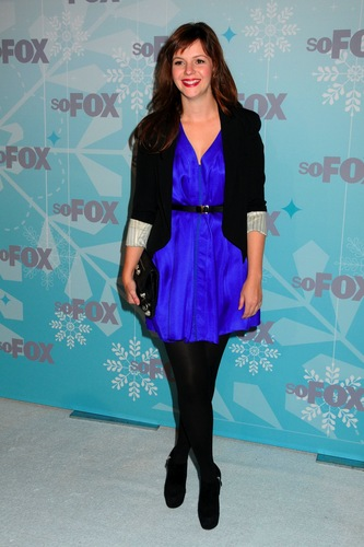 Amber Tamblyn achtergrond called vos, fox 2011 Winter All-Star Party in Los Angles, January 11, 2011