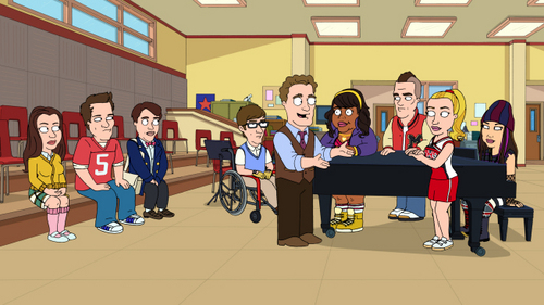 "Glee on ""The Cleveland Show""!!!!"