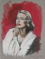 Grace,painting by Paul Davison - grace-kelly fan art