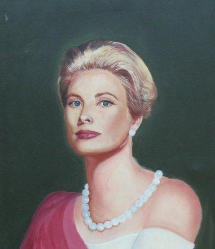 Grace Kelly wallpaper containing a portrait entitled Grace'',painting da Paul Davison