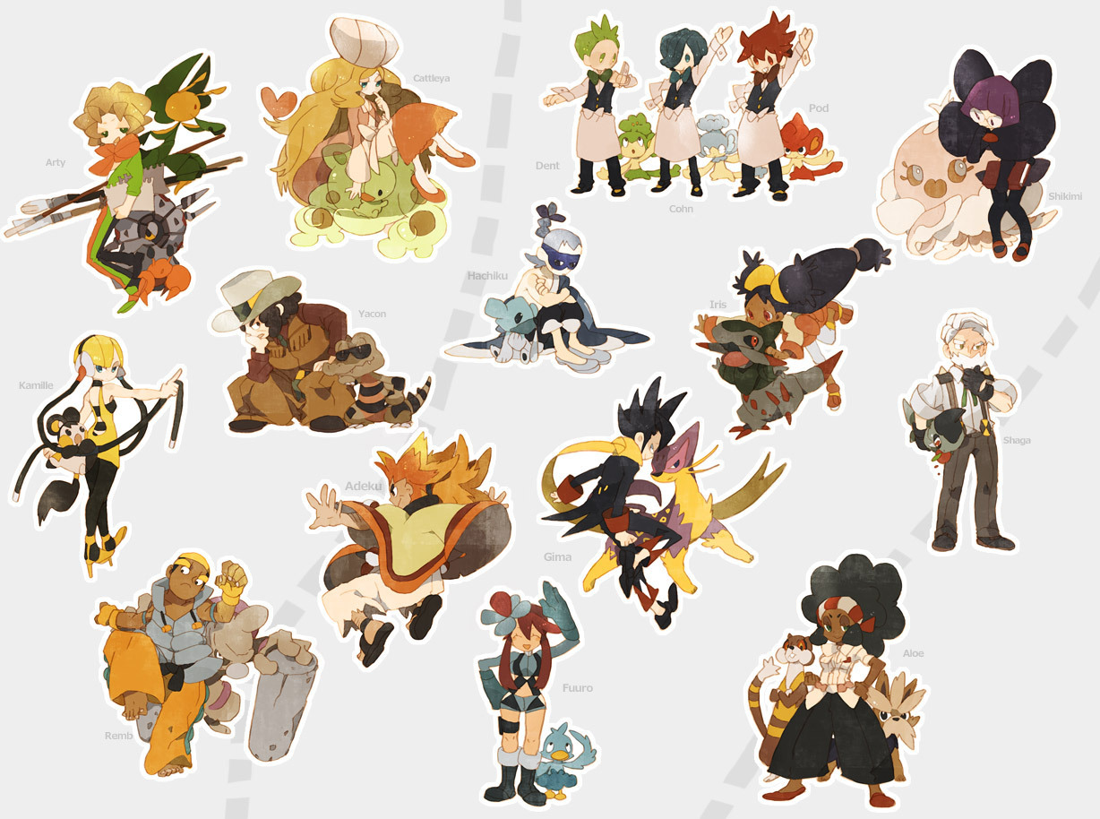 Gymleaders and Elite Four in Black/White