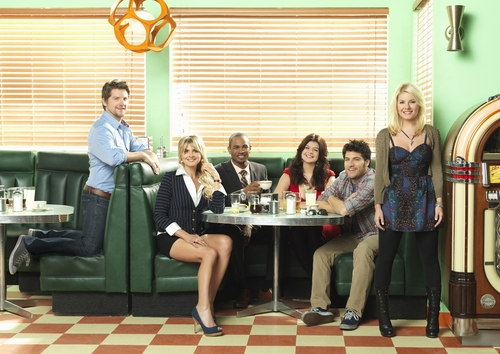 Happy Endings wallpaper containing a living room and a drawing room entitled Happy Endings cast