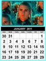 January 2011 calendar - legolas-greenleaf fan art