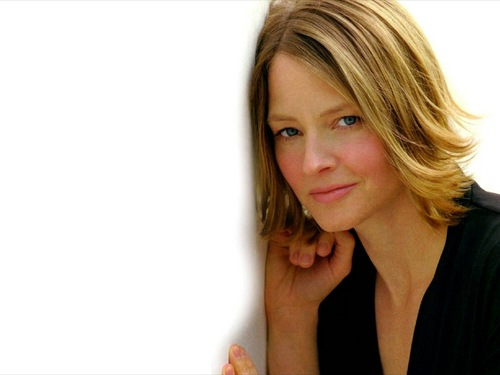 Jodie Foster fond d'écran with a portrait entitled Jodie