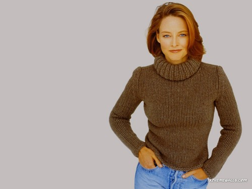 jodie foster wallpaper probably containing a pullover called Jodie