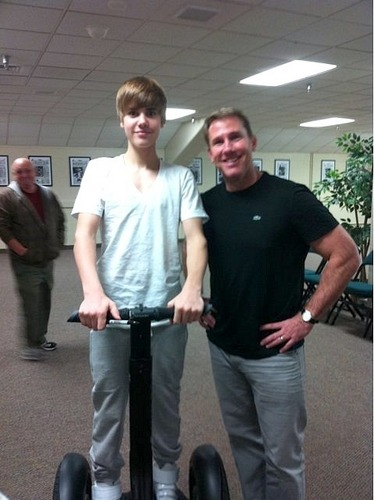 Justin on a segway
