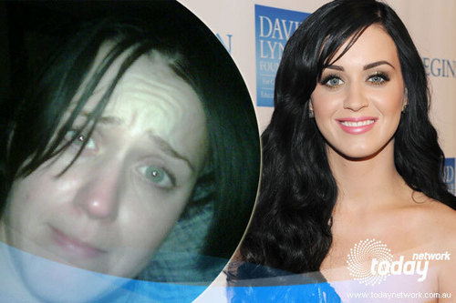 Katy Perry with and without makeup