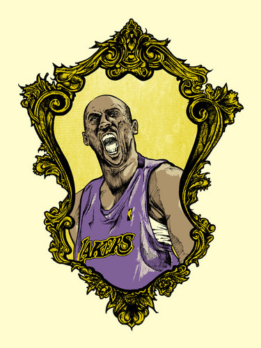 Los Angeles Lakers hình nền called Kobe Bryant Art Print