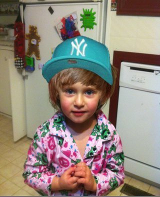 Little Girl with Bieber Hair and NY hat - Justin Bieber 320x394