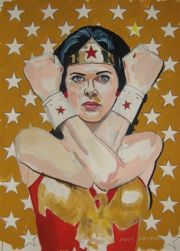 Lynda Carter as Wonder Woman sa pamamagitan ng artist Paul Davison