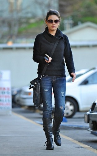 Mila out in Studio City