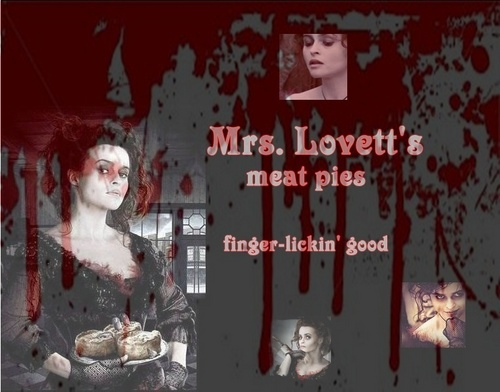 Nellie Lovett wallpaper with a sign called Mrs.Lovett's meat pies
