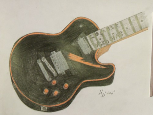 My Art Work For Nick Wiggins Its A Zombie guitare