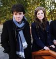 Skandar Keynes and Georgie Henley Dec 2010 - the-chronicles-of-narnia photo