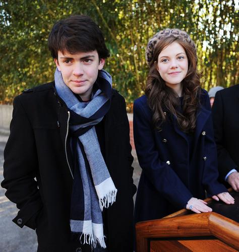 Skandar Keynes and Georgie Henley Dec 2010