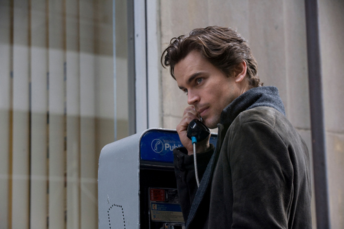 White Collar wallpaper possibly containing a pay phone and a telephone booth titled Neal Caffrey