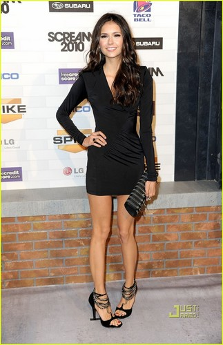 Nina Dobrev wallpaper possibly with bare legs and a hip boot entitled Nina Dobrev