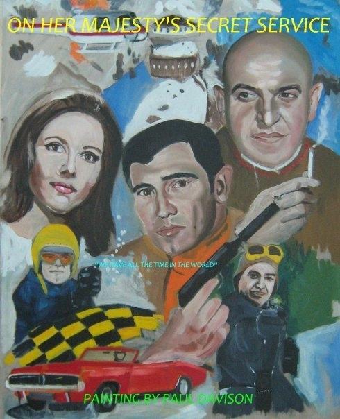 On Her Majesty's Secret Service,painting par Paul Davison