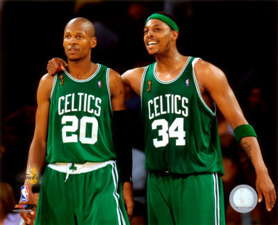 Paul Pierce & strahl, ray Allen