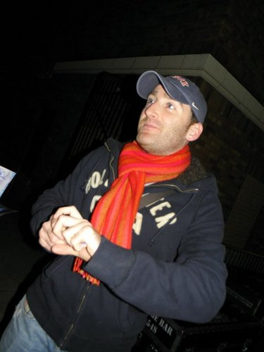Paul signing autographs