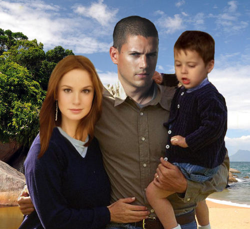 TV Couples wallpaper possibly with an outerwear and a leisure wear titled Prison Break - Michael & Sara