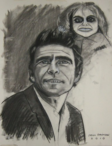 Rod Serling,drawing por Paul Davison