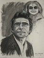 Rod Serling,drawing by Paul Davison