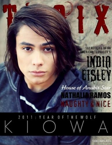 Scans of Kiowa Gordon Featured in Troix Magazine