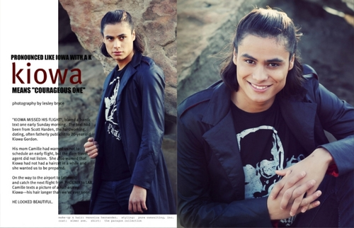 Scans of Kiowa Gordon Featured in Troix Magazine
