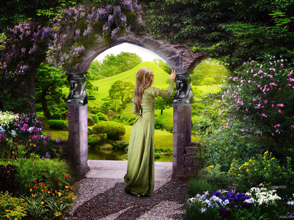 daydreaming images secret garden hd wallpaper and background photos