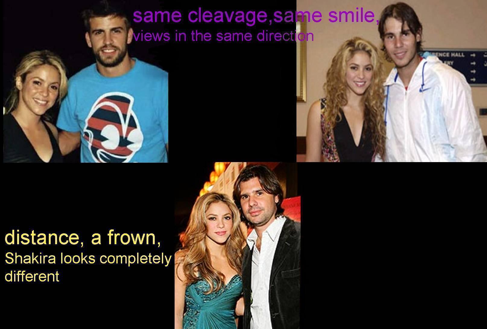Shakira and Piqué,Nadal and De La Rua