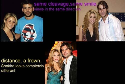 shakira and Piqué,Nadal and De La Rua
