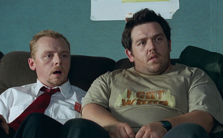 Shaun of the Dead wolpeyper entitled Shaun and Ed