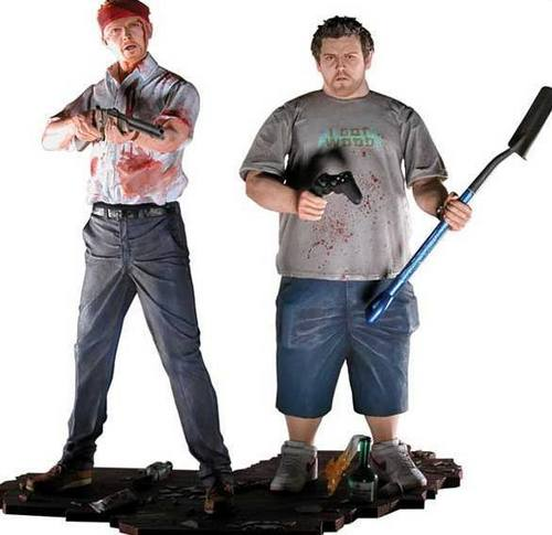 Shaun of the Dead wolpeyper possibly containing a hoover, a hoe, and a pick entitled Shaun and Ed
