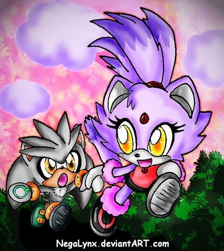 Silver and Blaze as kids