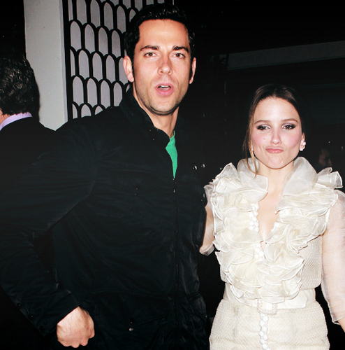 Sophia Bush and Zachary Levi