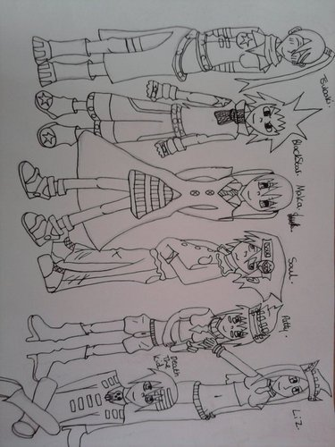 Soul Eater characters drawn by meh