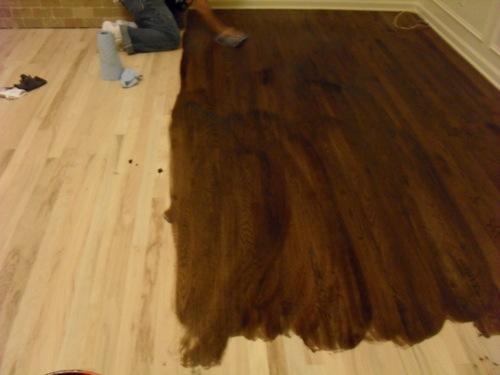 Staining wood floors