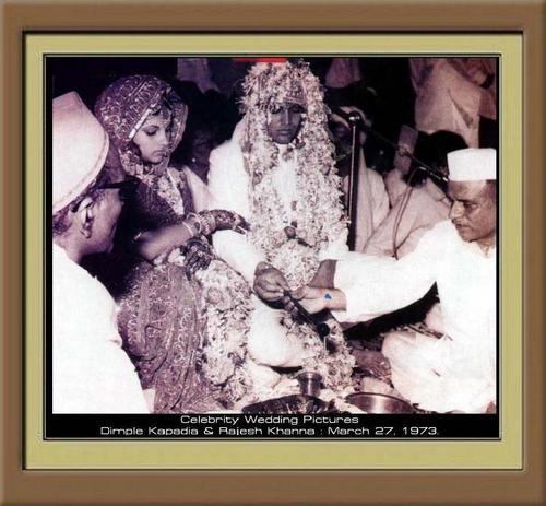 Super étoile, star Rajesh Khanna & Dimple Kapadia marriage on 27.3.1973